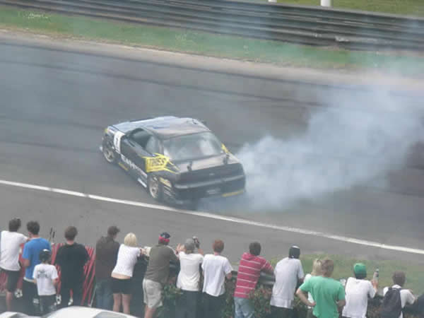 Drift car Burnout